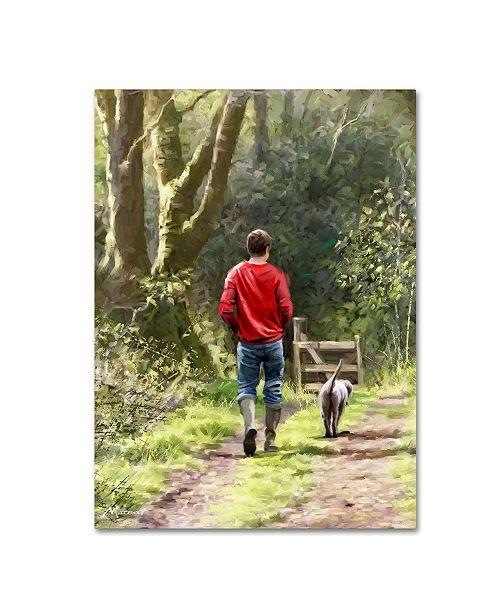 "Trademark Global The Macneil Studio 'Dog Walker' Canvas Art - 24"" x 18"" x 2"""