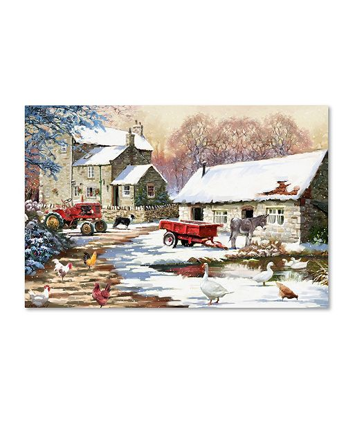 "Trademark Global The Macneil Studio 'Snowy Farmyard' Canvas Art - 24"" x 16"" x 2"""