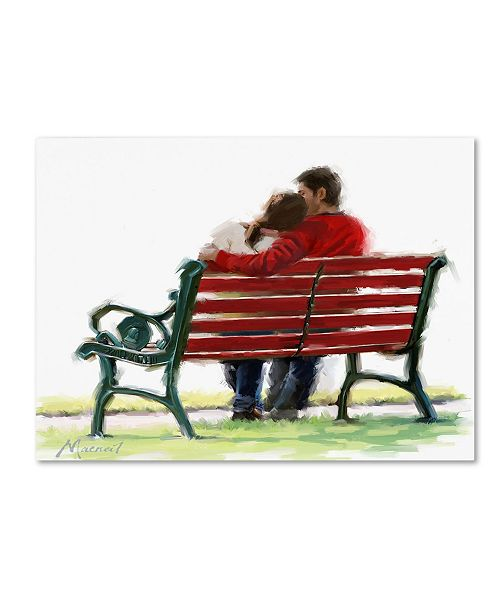 "Trademark Global The Macneil Studio 'Couple On Bench' Canvas Art - 47"" x 35"" x 2"""