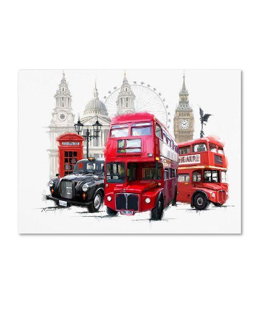 "Trademark Global The Macneil Studio 'London Transport' Canvas Art - 32"" x 24"" x 2"""