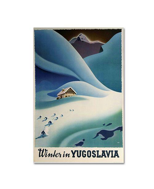 "Trademark Global Vintage Apple Collection 'Yugoslavia' Canvas Art - 24"" x 16"" x 2"""
