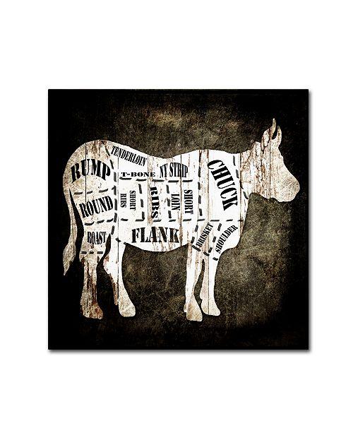 """Trademark Global lightbox Journal 'Butcher Shop II' Canvas Art - 18"""" x 18"""" x 2"""""""