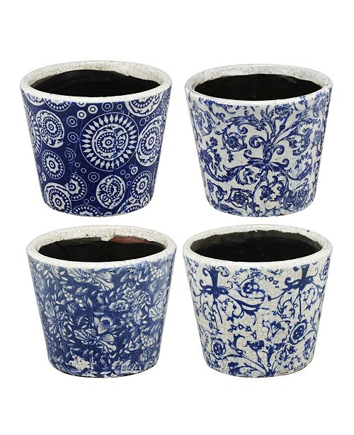 AB Home Small Planters, Set of 4
