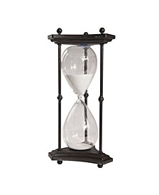 Thetis Tall 60-Minute Hourglass with Iron Stand, White Sand