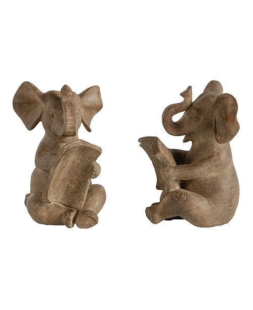 AB Home Elephant Bookends, Set of 2