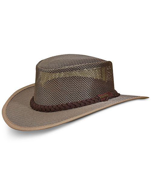 Dorfman Pacific Men's Mesh Safari Hat