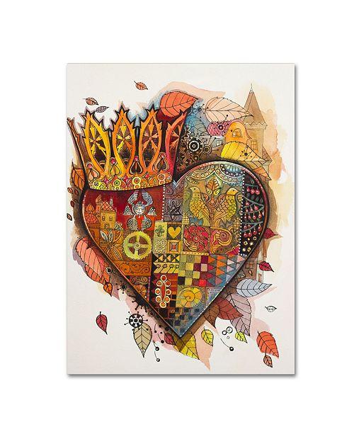 "Trademark Innovations Oxana Ziaka 'Steampunk Heart' Canvas Art - 47"" x 35"" x 2"""