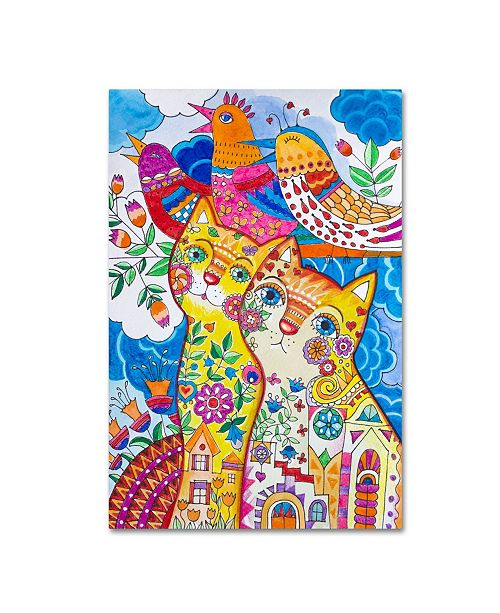 "Trademark Innovations Oxana Ziaka 'Summer Magic Birds' Canvas Art - 19"" x 12"" x 2"""