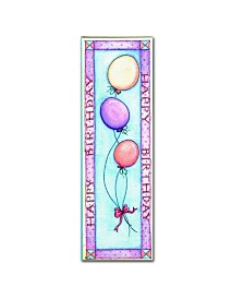 "Maureen Lisa Costello 'Happy Birthday' Canvas Art - 10"" x 32"" x 2"""