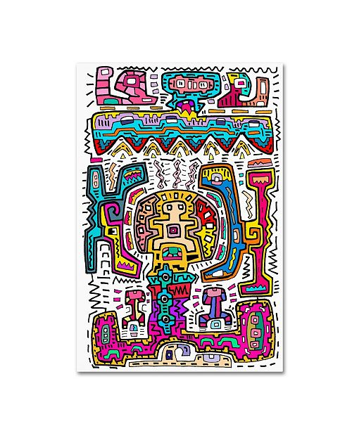 "Trademark Global Miguel Balbas 'Circuits VIII A' Canvas Art - 24"" x 16"" x 2"""