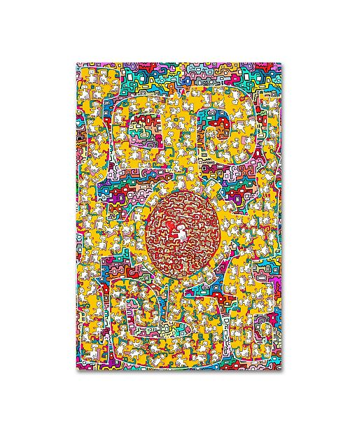 """Trademark Global Miguel Balbas 'I Give You My Heart' Canvas Art - 19"""" x 12"""" x 2"""""""
