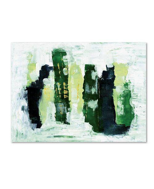 "Trademark Global Summer Tali Hilty 'Abstract 1 Green' Canvas Art - 32"" x 24"" x 2"""