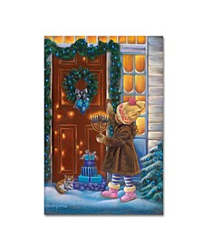 "Tricia Reilly-Matthews 'Hanukkah' Canvas Art - 19"" x 12"" x 2"""