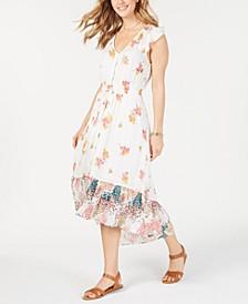 Felice Floral-Print High-Low Dress