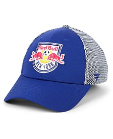 Authentic MLS Headwear New York Red Bulls Versalux Speed Flex Stretch Fitted Cap