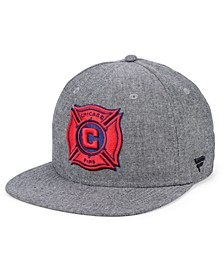 Authentic MLS Headwear Chicago Fire Chambray Snapback Cap