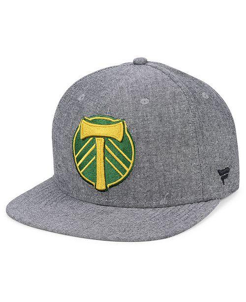 Lids Authentic MLS Headwear Portland Timbers Chambray Snapback Cap