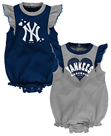 Outerstuff Baby New York Yankees Double Trouble Bodysuit Set