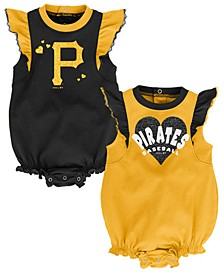 Baby Pittsburgh Pirates Double Trouble Bodysuit Set