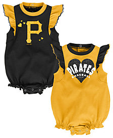 Outerstuff Baby Pittsburgh Pirates Double Trouble Bodysuit Set