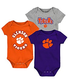 Baby Clemson Tigers Everyday Fan 3 Piece Creeper Set