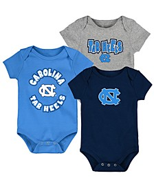 Baby North Carolina Tar Heels Everyday Fan 3 Piece Creeper Set