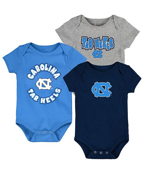 Outerstuff Baby North Carolina Tar Heels Everyday Fan 3 Piece Creeper Set