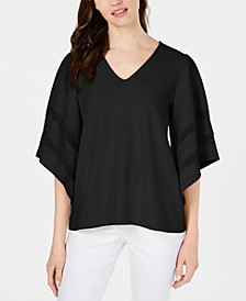 Inset-Sleeve Top, Created for Macy's