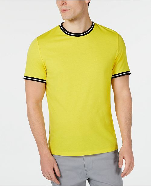 Alfani Men's Contrast Tipped T-Shirt, Created for Macy's