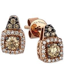 Chocolatier® Diamond Halo Cluster Stud Earrings (3/8 ct. t.w.) in 14k Gold