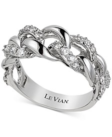 Diamond Chain Link Statement Ring (1/2 ct. t.w.) in 14k White Gold