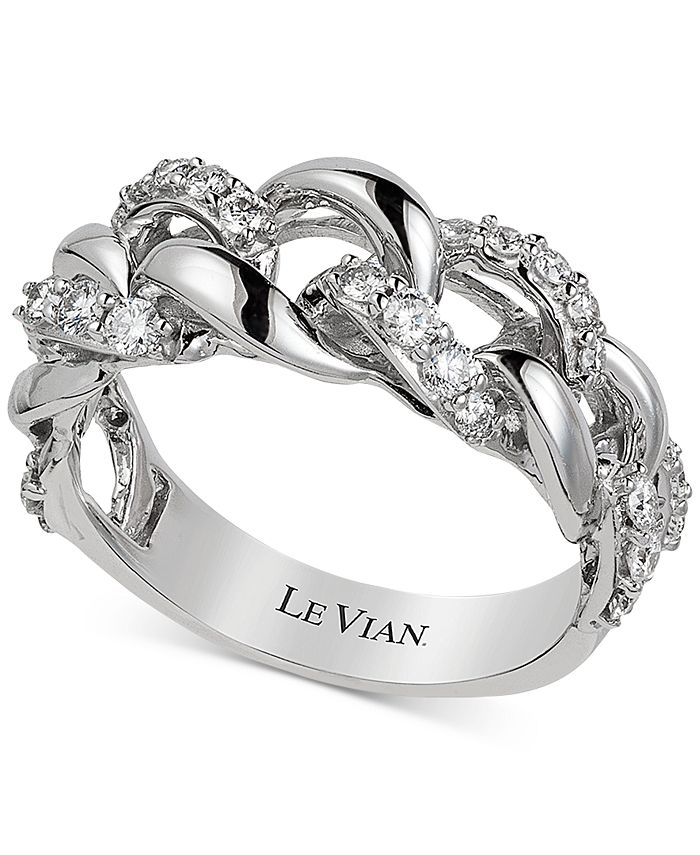 Le Vian - Vanilla Diamond Chain Link Statement Ring (1/2 ct. t.w.) in 14k White Gold