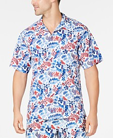 Tommy Bahama Men's Botticelli Toss Tropical-Print Silk Camp Shirt, Created for Macy's