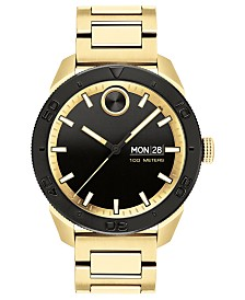 Movado Men's Swiss Bold Gold Ion-Plated Stainless Steel Bracelet Watch 43.5mm