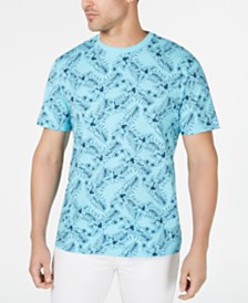 Club Room Men's Hibiscus Graphic T-Shirt, Created for Macy's