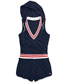 Champion Striped Hooded Sleeveless Romper