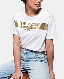 Cotton Metallic Logo T-Shirt