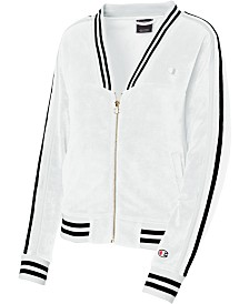 Champion V-Neck Striped Warm-Up Jacket