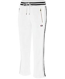 Slim Varsity-Stripe Warm-Up Pants