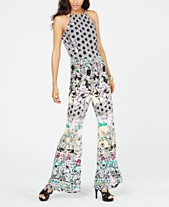 98de653e23c9 I.N.C. Printed Necklace-Collar Halter Jumpsuit, Created for Macy's