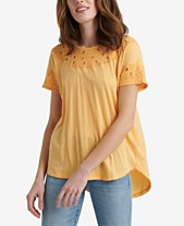 bd858d88862 Lucky Brand Embroidered Cutout-Detail Top. Quickview. 3 colors