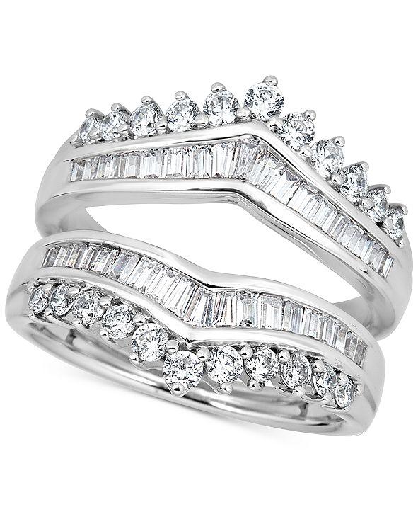 Macy's Diamond Enhancer Guard Ring (1-1/5 ct. t.w.) in 14k White Gold