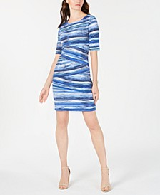 Printed Tiered Sheath Dress