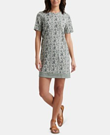 Lucky Brand Floral-Print Summer T-Shirt Dress