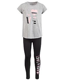Ideology Little Girls 2-Pc. Graphic-Print T-Shirt & Leggings Set, Created for Macy's