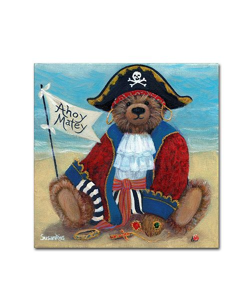 "Trademark Global Susan Rios 'Ahoy Matey' Canvas Art - 35"" x 35"" x 2"""