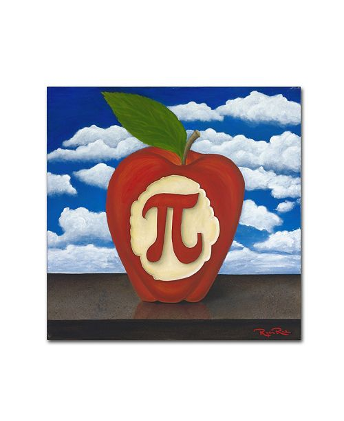 "Trademark Global Ryan Rice Fine Art 'Apple Pi' Canvas Art - 18"" x 18"" x 2"""