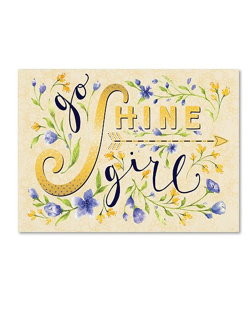 "Trademark Global Yachal Design 'Shine' Canvas Art - 24"" x 18"" x 2"""