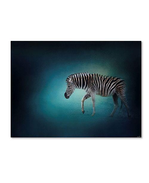"Trademark Global Jai Johnson 'Zebra In The Moonlight' Canvas Art - 24"" x 18"" x 2"""