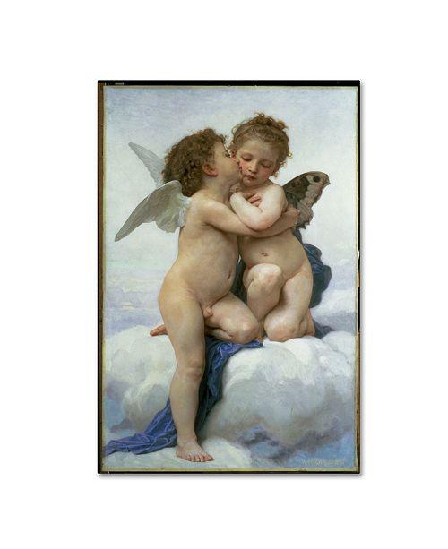 "Trademark Global William-Adolphe Bouguereau 'First Kiss' Canvas Art - 19"" x 12"" x 2"""